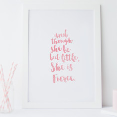She is fierce shakespeare quote wall art