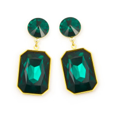 Swarovski emerald shine earrings (various colours)