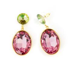 Swarovksi oval shine earrings (various colours)