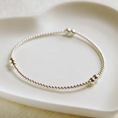 Sterling Silver Silver Bead Bracelet