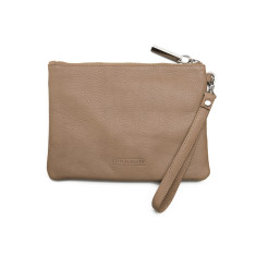 Cassie clutch in dusty linen (RFID available)