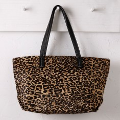 Shopper bag in leopard