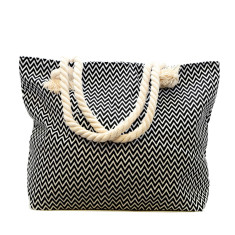 Black and white zig zag bag