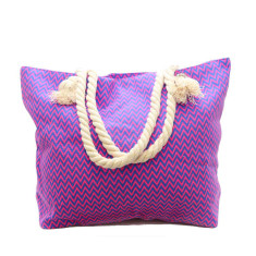 Purple and blue zig zag bag