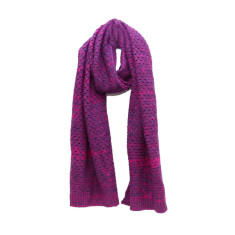 Knitted violet scarf