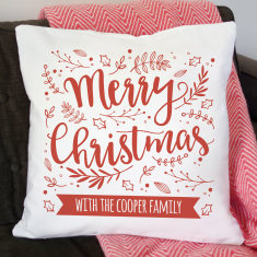 Personalised Merry Christmas Cushion Cover
