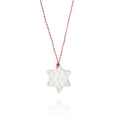 Christmas star decoration porcelain set by Anne Black (6 pieces)