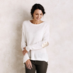 Avignon sweater in creme with rose gold