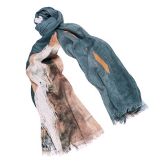 Miles Ahead linen-blend scarf
