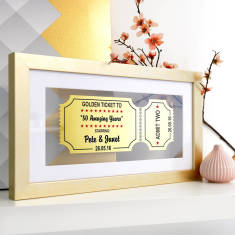 Personalised Golden Anniversary Framed Golden Ticket