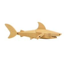 Sid the shark wooden toy