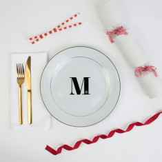 Christmas Alphabet Dinner Plate