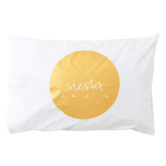 Gold fiesta siesta pillowcase
