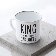 King of Dad Jokes Enamel Mug