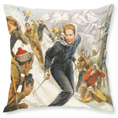 Princess & the Paparazzi linen cushion cover