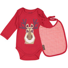 Caribou onesie and bib set