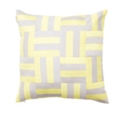 Silk squared cushion cover