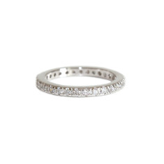 Eternity ring in silver