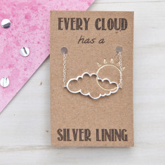 Every cloud has a silver lining necklace