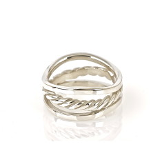 Sterling silver lasso ring