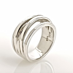 Waterfall silver ring
