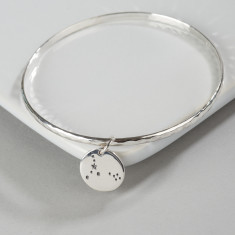 Sterling silver zodiac constellation bangle