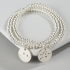 Silver zodiac constellation bracelet