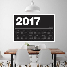 Meenyminy Scandi inspired Wall Calendar - Black