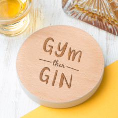 Gym Then Gin Personalised Drinks Coaster