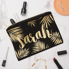 Personalised Palm Leaf Make Up Bag