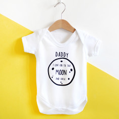 Personalised Love You To The Moon And Back Baby Grow