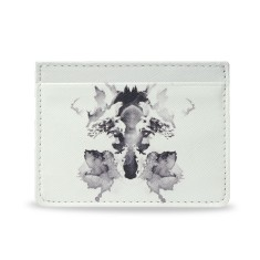 Fox White Vegan Leather Credit Card Holder
