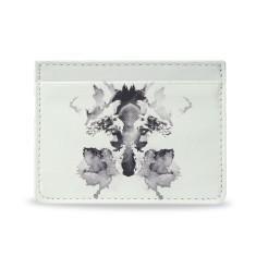 Fox White Vegan Leather Credit Card Holder
