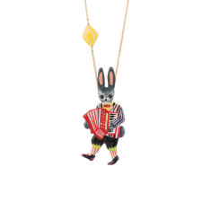 Accordionist Rabbit Necklace