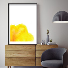 Yellow watercolour art print (various sizes)