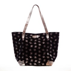 nooki design - metallic bee printed shopper bag