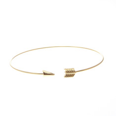 Arrow wrap bracelet in gold