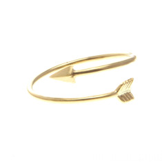 Tiny arrow wrap ring in gold