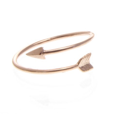 Tiny arrow wrap ring in rose gold