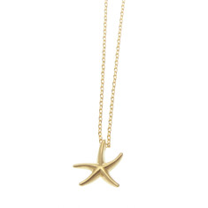 Starfish pendant necklace in gold