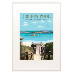 Vintage Denmark Greens Pool print
