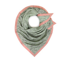 Soft mellow green scarf with stylish trim