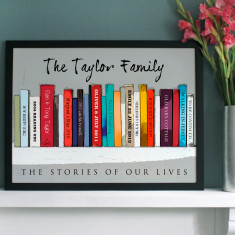 Personalised Family Edition Book Wall Art