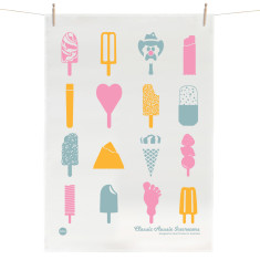 Classic Aussie Ice creams tea towel