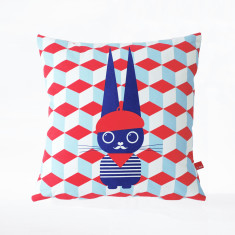 The French Rabbit organic Cushion Cover