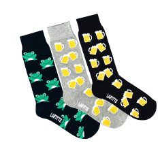 Lafitte beer and frog socks (3 pack)