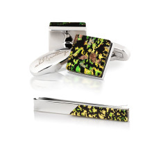 Oasi Gift Set - Cufflinks + Tie Bar