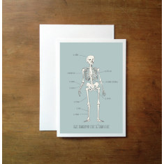 French anatomy greeting card