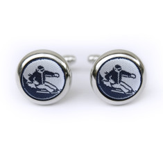 Ski cufflinks in navy