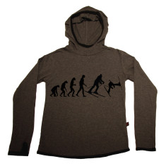 Skiing long-sleeve hooded t-shirt